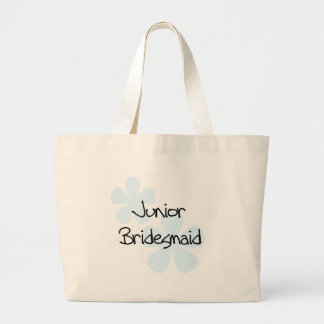 Blue Flowers Jr. Bridesmaid Tote Bag