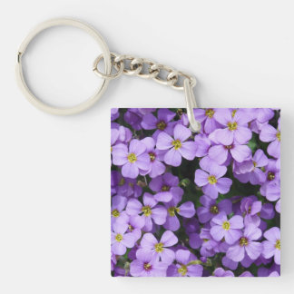 Blue Flowers Keychain