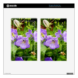 Blue flowers kindle fire decal