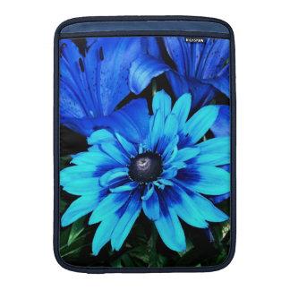 Blue Flowers MacBook Sleeve