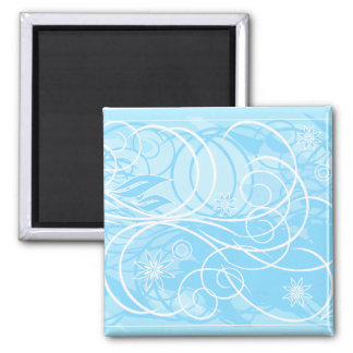 blue flowers refrigerator magnet