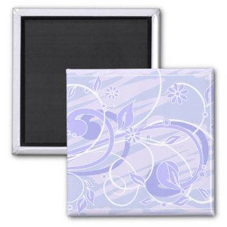 blue flowers fridge magnet