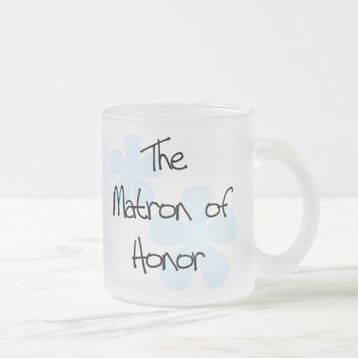 Blue Flowers Matron of Honor Coffee Mug