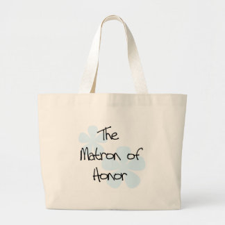Blue Flowers Matron of Honor Large Tote Bag