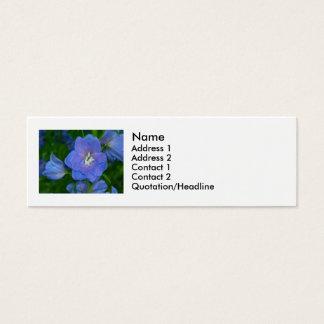 Blue flowers mini business card