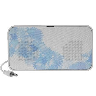 Blue flowers mini speaker