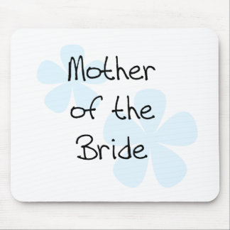 Blue Flowers Mother of Bride Mouse Pad