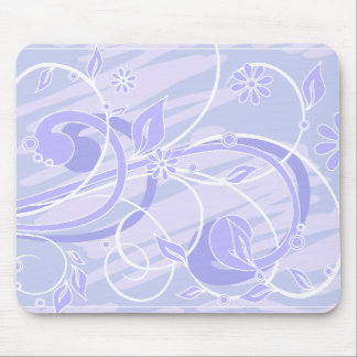 blue flowers mouse pad