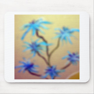 blue flowers mouse pads