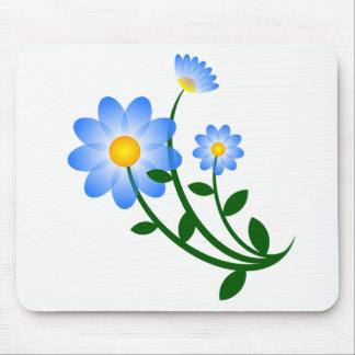 Blue flowers mousepad