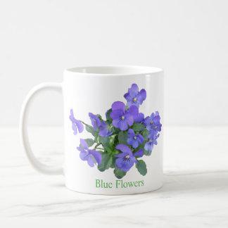 Blue Flowers Classic White Coffee Mug