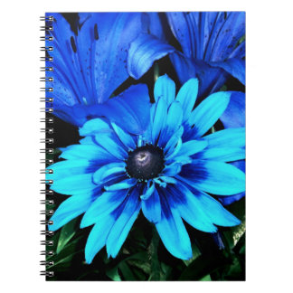 Blue Flowers Note Books