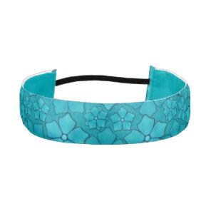 Blue Flowers pattern Athletic Headband