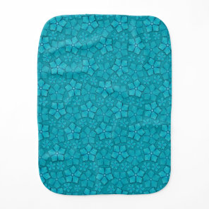 Blue Flowers pattern Baby Burp Cloth