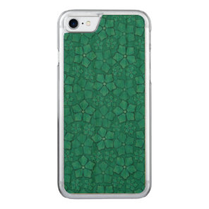 Blue Flowers pattern Carved iPhone 7 Case