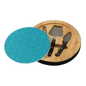Blue Flowers pattern Cheese Platter