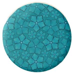 Blue Flowers pattern Chocolate Dipped Oreo