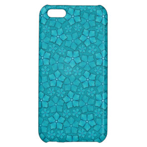Blue Flowers pattern Cover For iPhone 5C