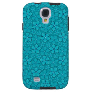 Blue Flowers pattern Galaxy S4 Case