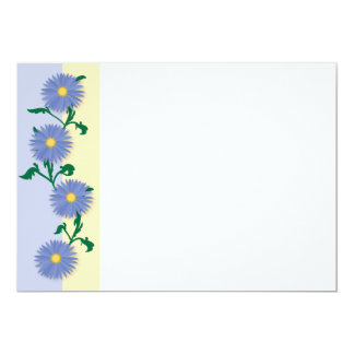 Blue flowers pattern personalized invites