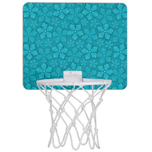 Blue Flowers pattern Mini Basketball Hoop