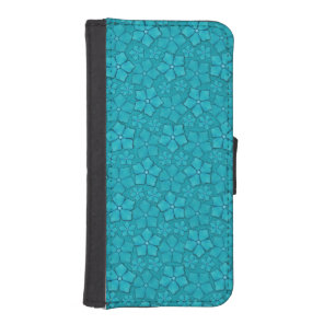 Blue Flowers pattern Wallet Phone Case For iPhone SE/5/5s