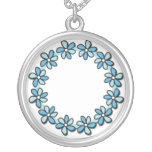 Blue Flowers Pendant