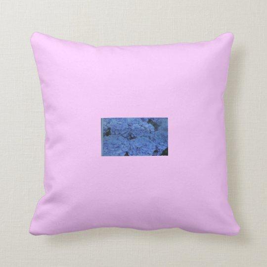 Blue Flowers Relax. Throw Pillow