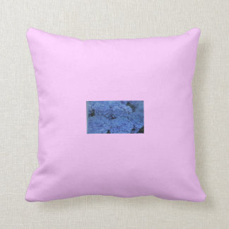 Blue Flowers Relax. Throw Pillow