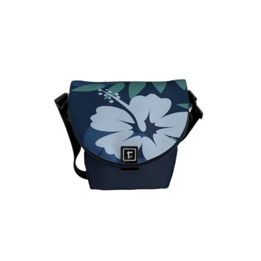 Blue Flowers Rickshaw Mini Zero Messenger Bag