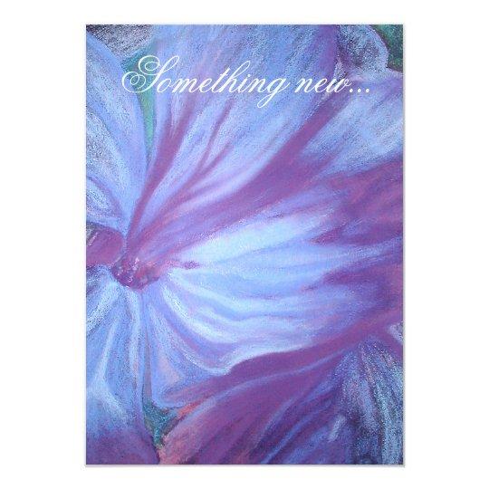 Blue Flowers Romantic Wedding Invite