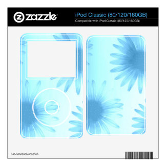 Blue Flowers iPod Decal