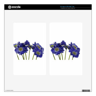 Blue Flowers Skins For Kindle Fire