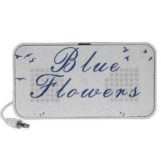 Blue Flowers Notebook Speakers