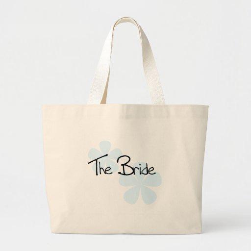 Blue Flowers The Bride Canvas Bags