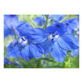 Blue Flowers Trading Card Large Business Card