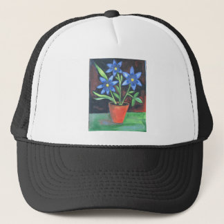 Blue Flowers Trucker Hat