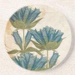 Blue Flowers Vintage Wedding coasters