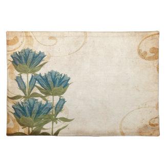 Blue Flowers Vintage Wedding Place Mat