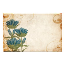 Blue Flowers Vintage Wedding Stationery