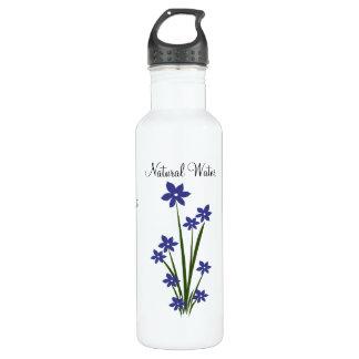 Blue Flowers Water Bottle