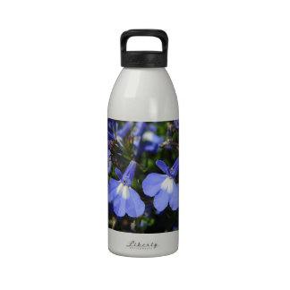 Blue Flowers Reusable Water Bottle