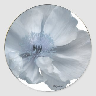 Blue Flowers Wedding Envelope Seals sticker