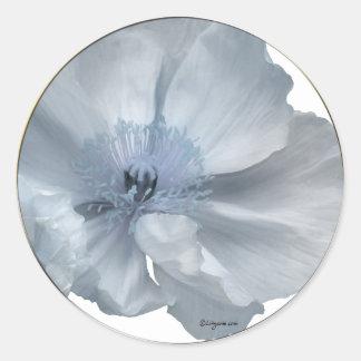 Blue Flowers Wedding Envelope Seals Classic Round Sticker