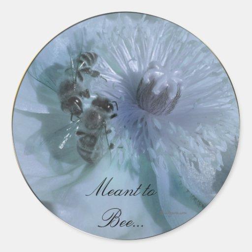 Blue Flowers Wedding Invitation Seals Classic Round Sticker