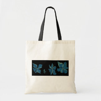 Blue Flowers With Mermaid Budget Tote Bag