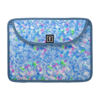 Blue Flowery Background Sleeves For MacBook Pro
