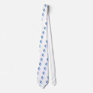 Blue Flowing Music Notes Neck Tie