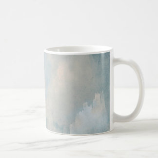Blue Fluffy Clouds Painting Background Coffee Mug