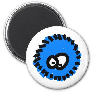 Blue Fluffy Germ Refrigerator Magnet